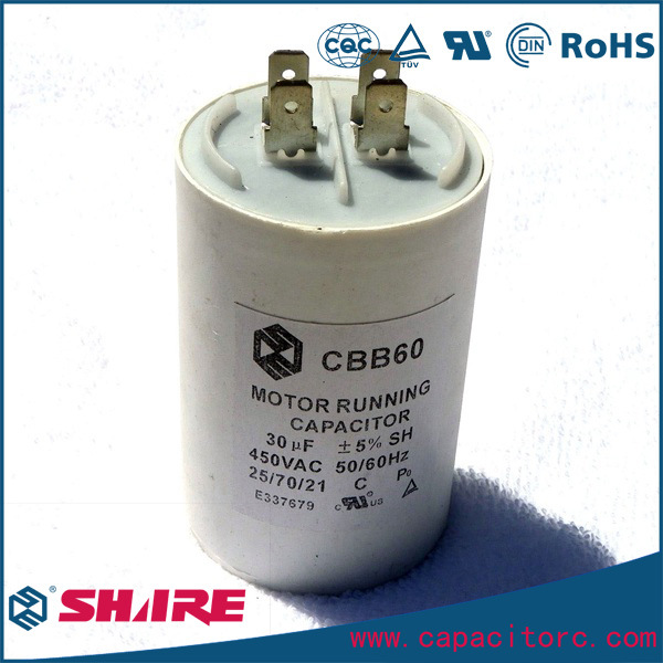 Cbb60 AC Motor Running Capacitor for Water Pump
