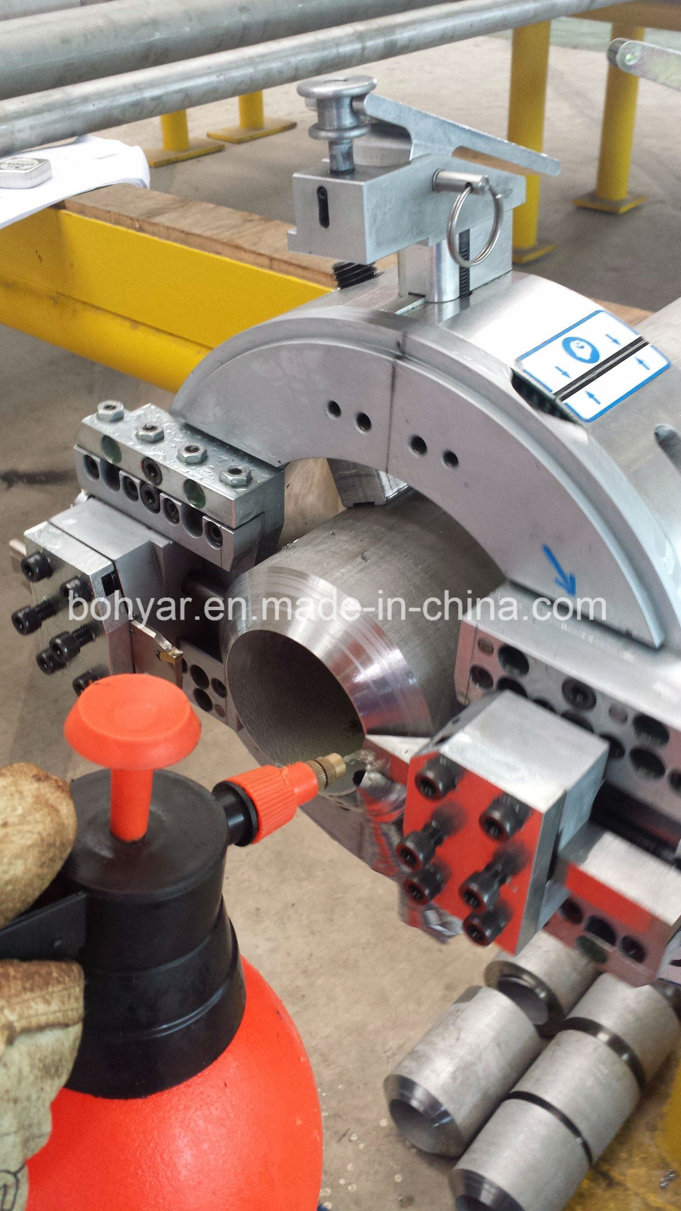 Od Mounted, Pipe Cutting and Beveling Machine with Electric Motor (SFM0408E)