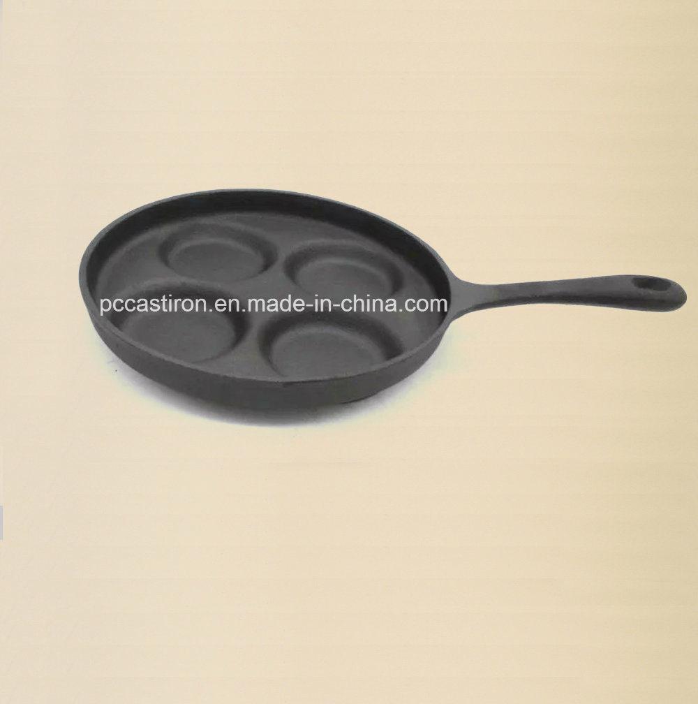 7PCS Cast Iron Pizza Pan with Handle Size 23cm
