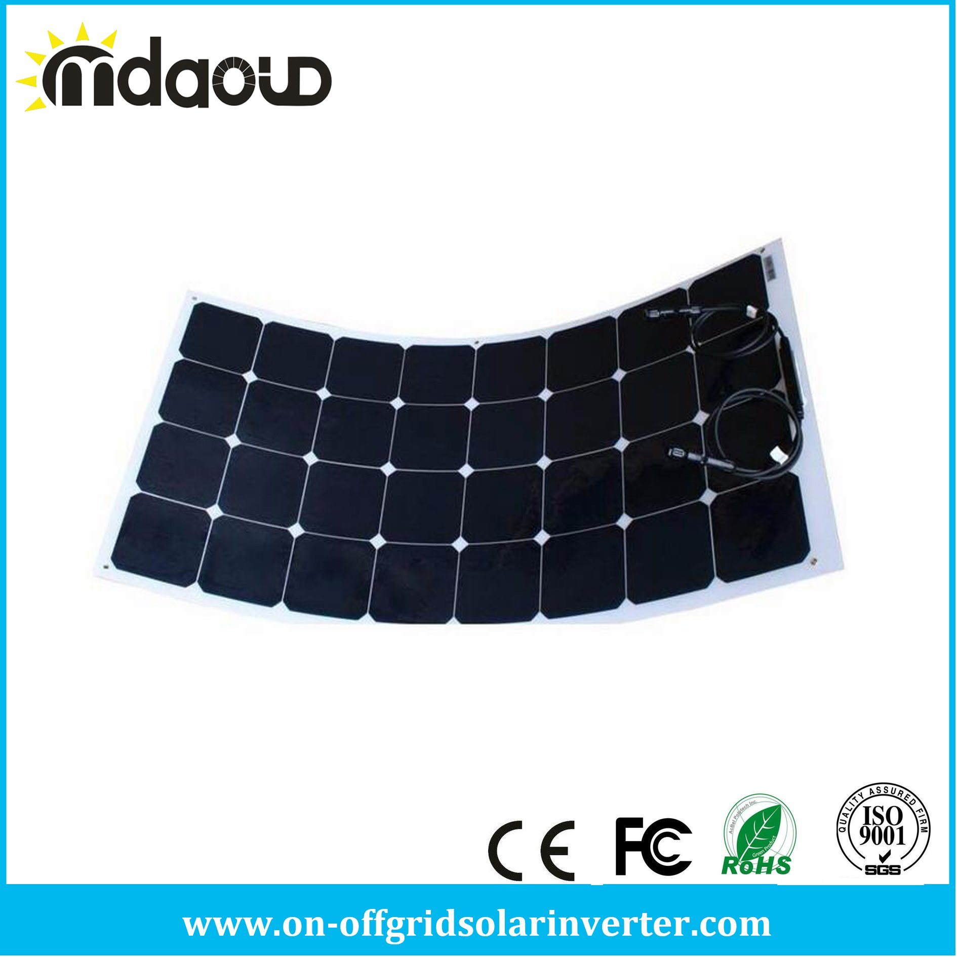 High Efficiency 100W Semi Flexible Solar Panel