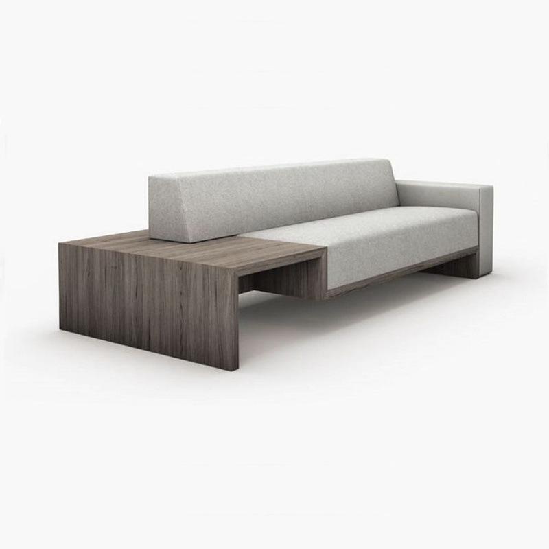 Wooden Frame Armrest Modern Fabric Sofas for Hotel (F1116)