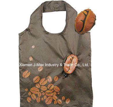 Foldable Shopping Bag, Food Coffee Bean Style, Reusable, Lightweight, Tote Bags, Gifts, Promotion, Grocery Bags and Handy, Accessories & Decoration