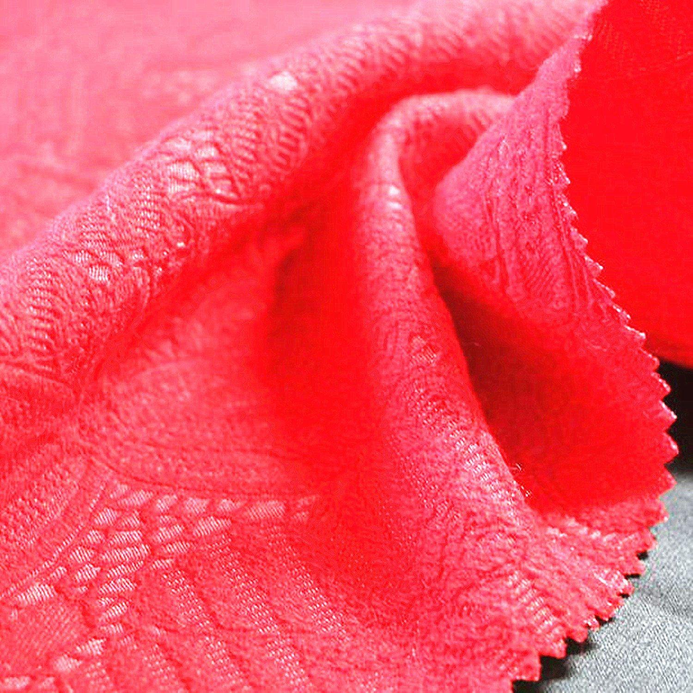 Red Wedding Dress High End Fashion Spandex Jacquard Fabric
