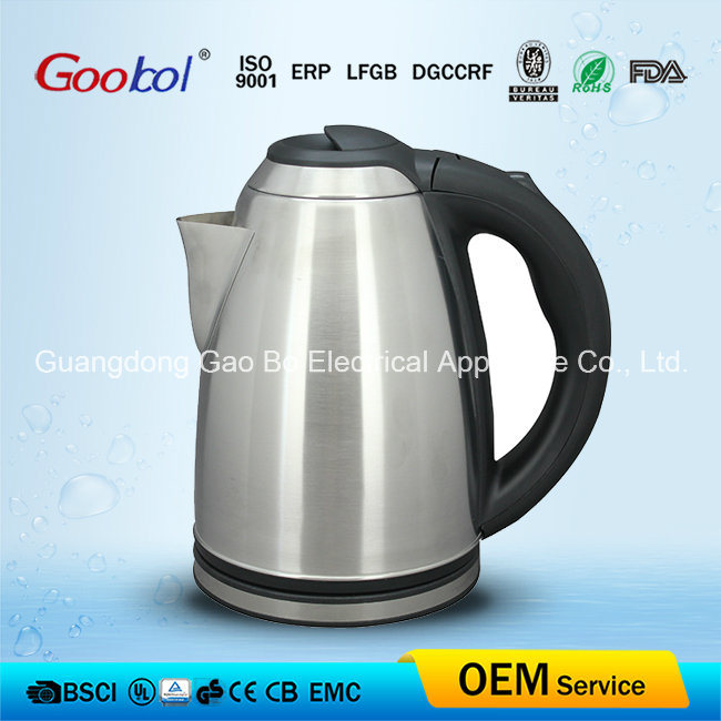 Useful Electric Kettle Black Plastic Handle 360 Degree Cordless Base