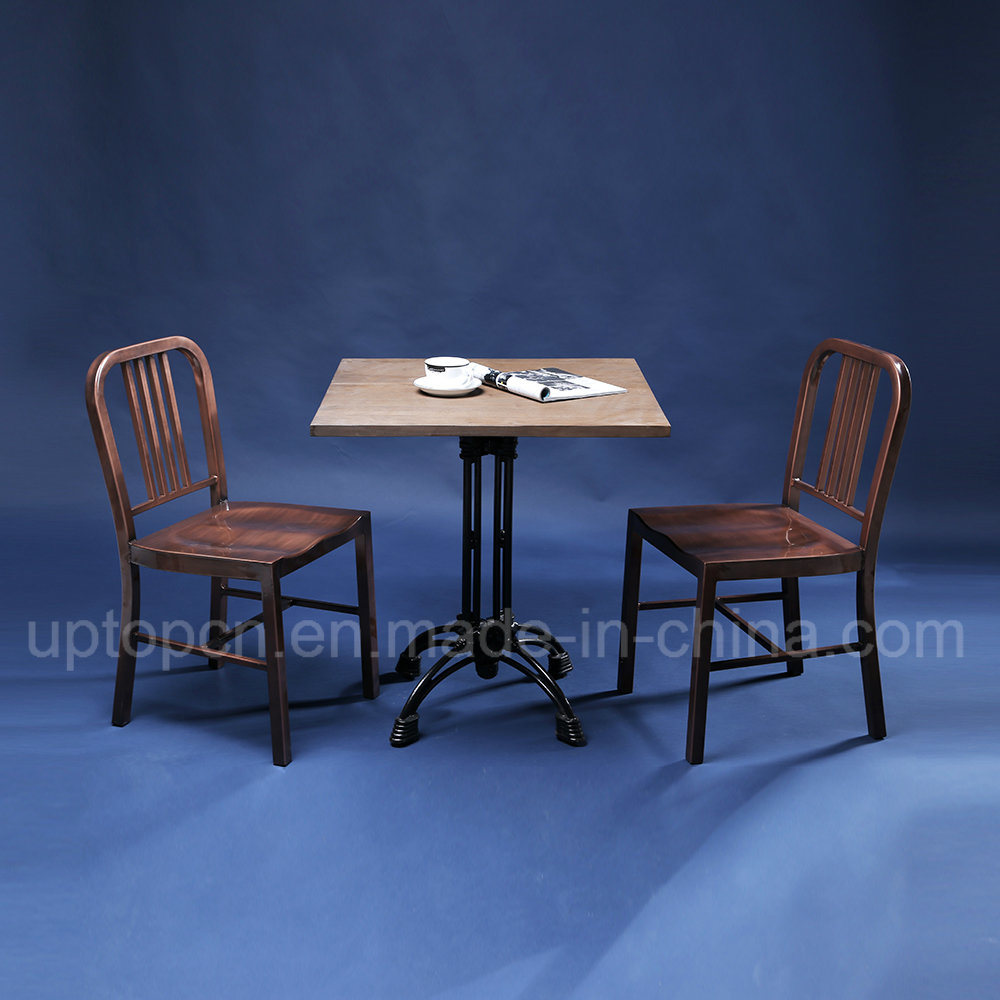 Industrial Style Restaurant Furniture with Wooden Table and Metal Chair (SP-CT754)