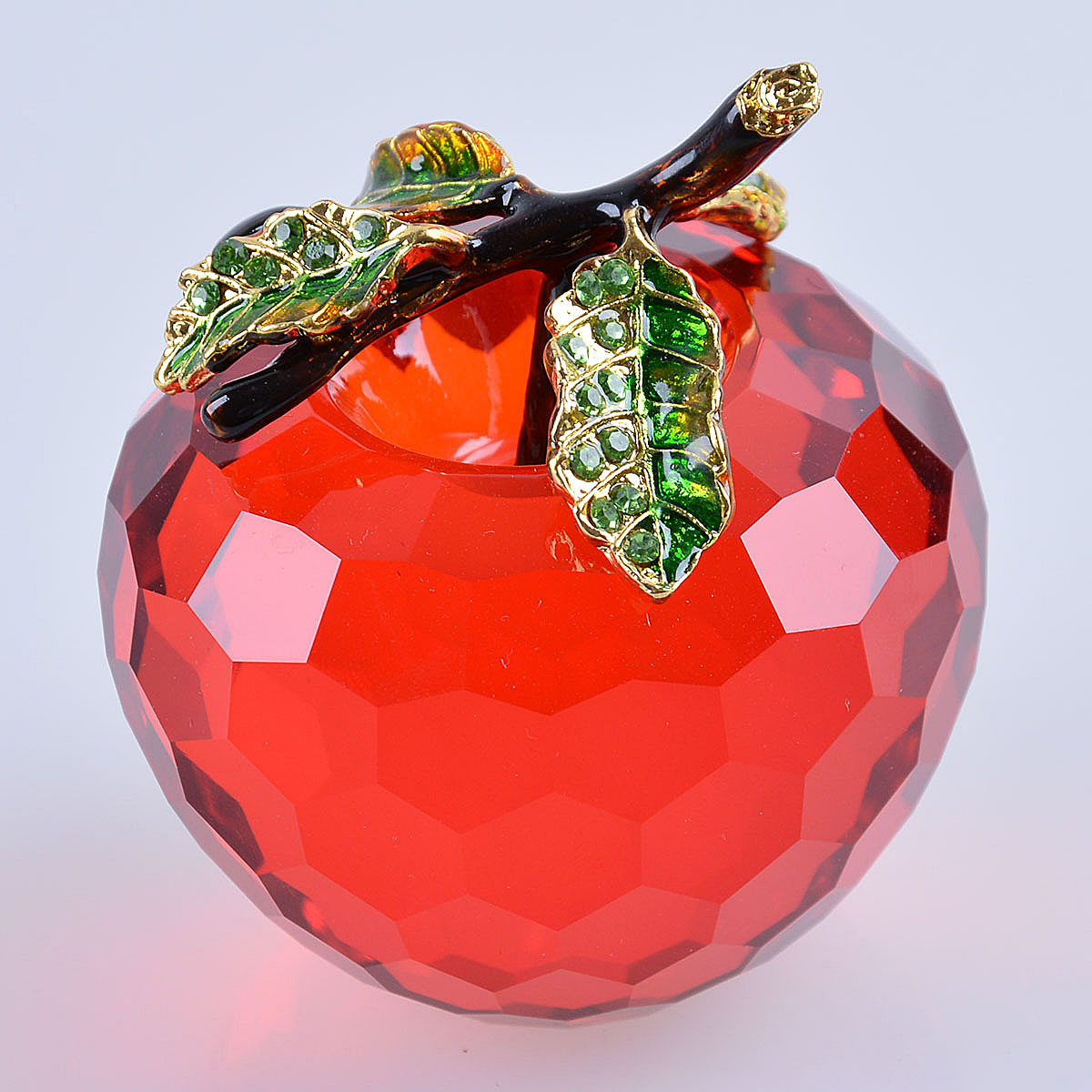 Beautiful Crystal Glass Apple Crafts for Decoration Gift