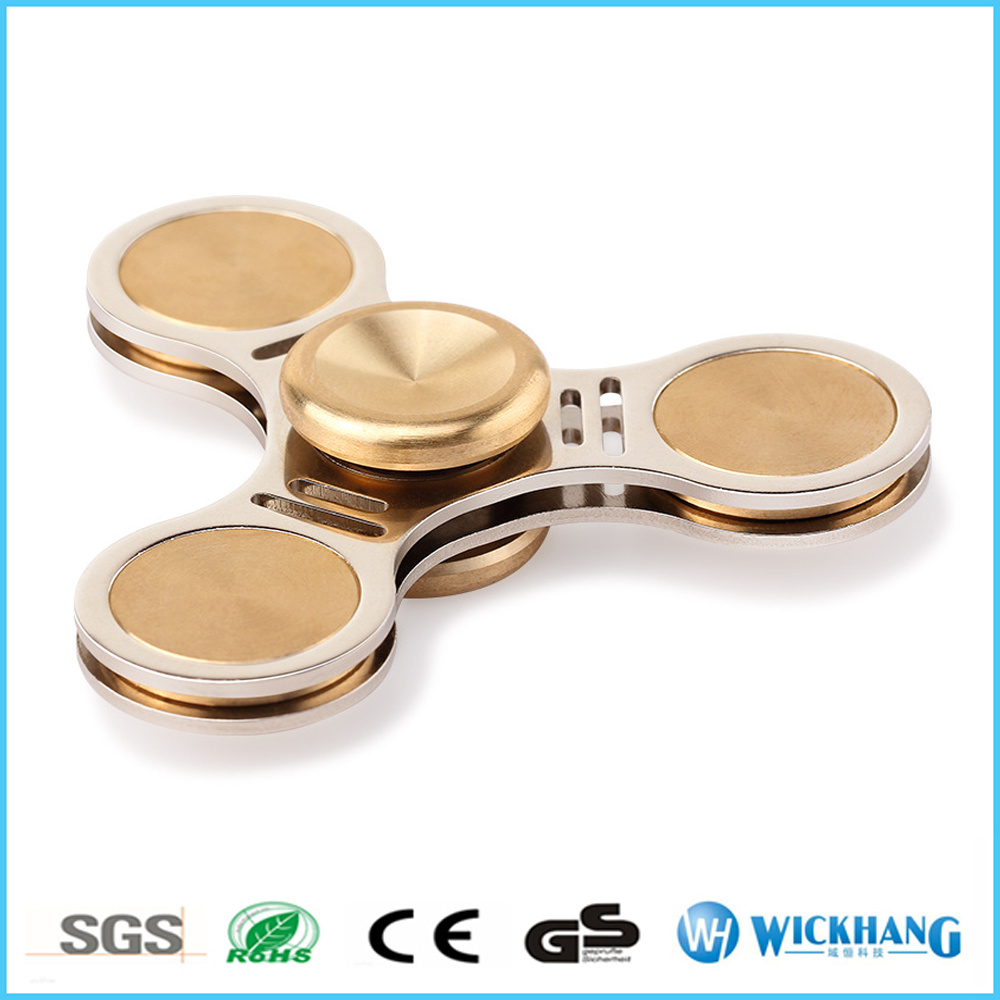 Aluminum Hand Spinner Fidget Finger Desk Focus Toy EDC Kids Adult
