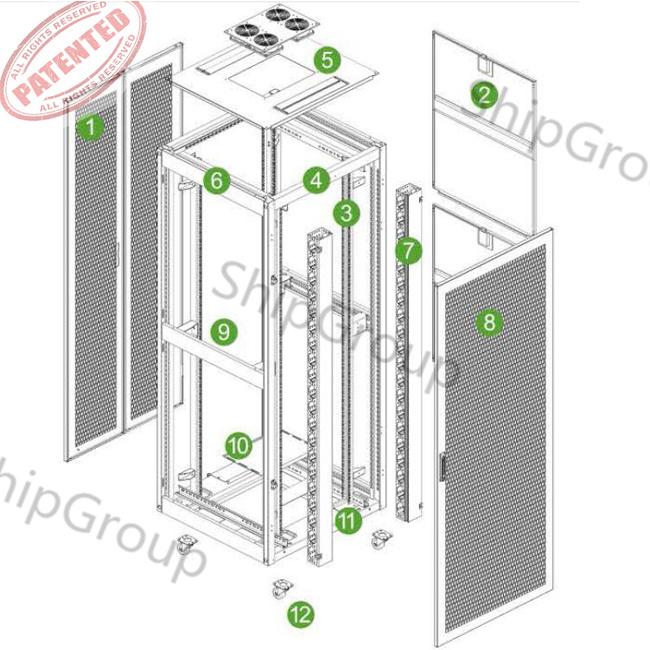 """19""""Floor Standing Server Rack/Network Cabinet for Rack Mount"""