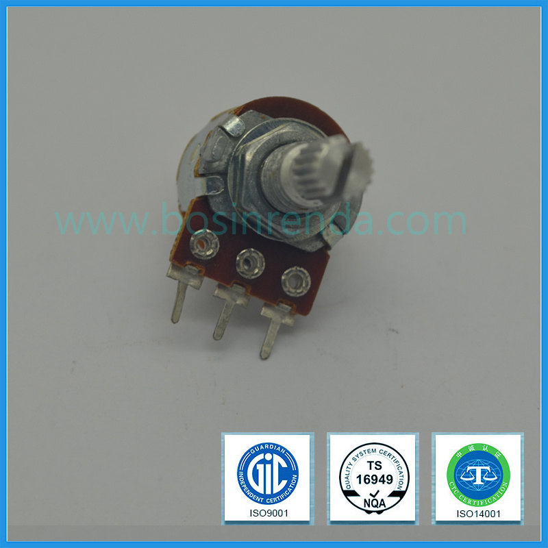 16mm Rotary Potentiometer with Switch Carbon Potentiometer B10k B100k