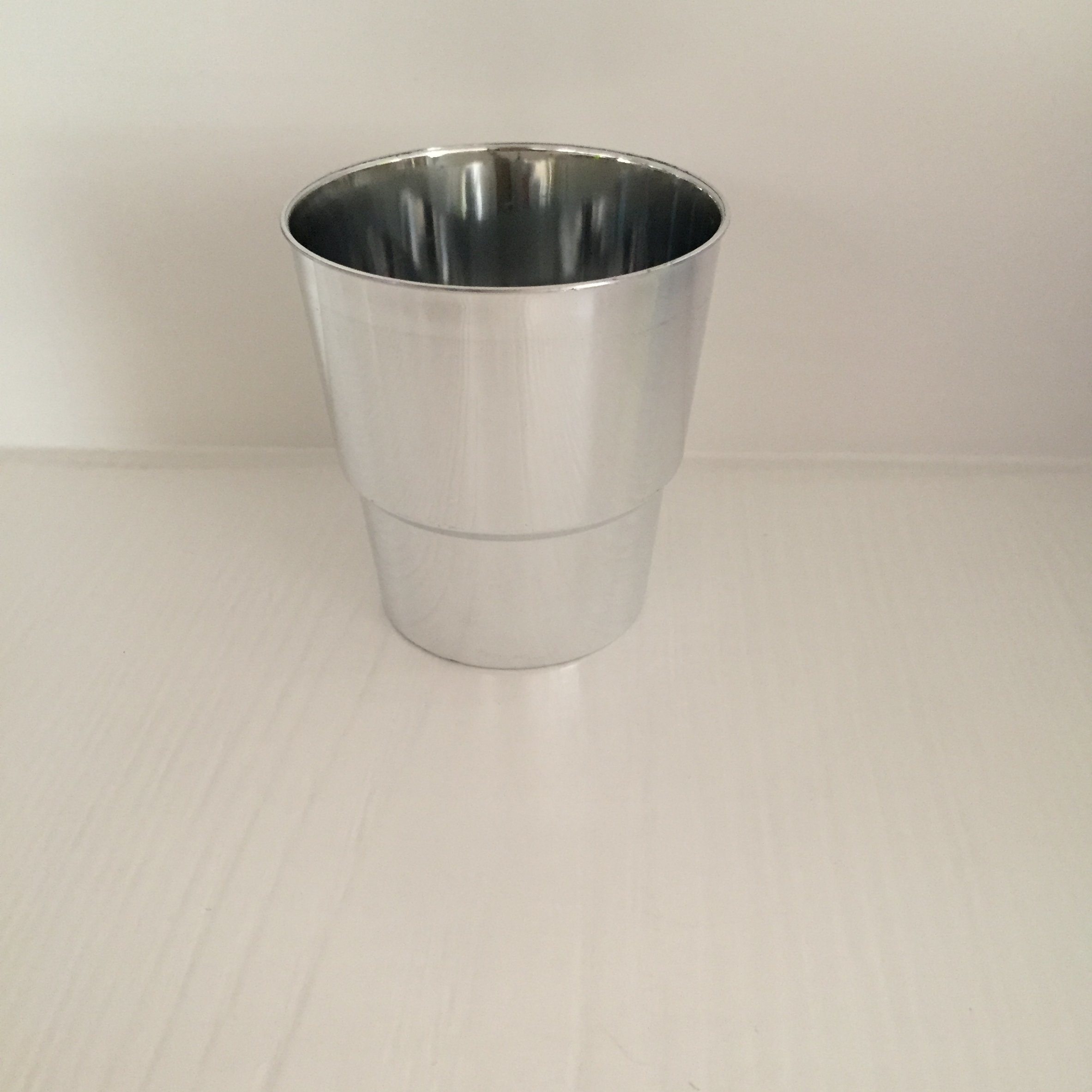 Plastic Cup, Glass, Mug, Tableware, PS, Disposable, Golden, Silver Cup