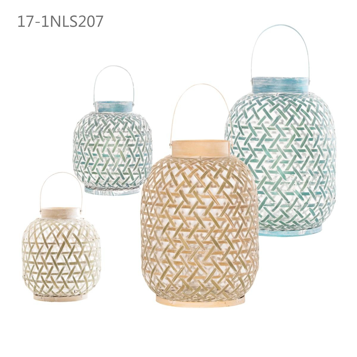 Colorful Fashion Unique with Handle of Bamboo Lanterns