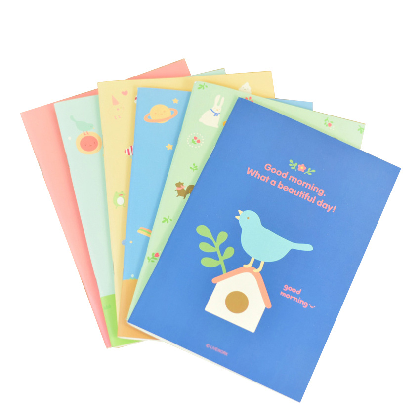 Softcover Eco-Friendly Customized Printed Notebook for School
