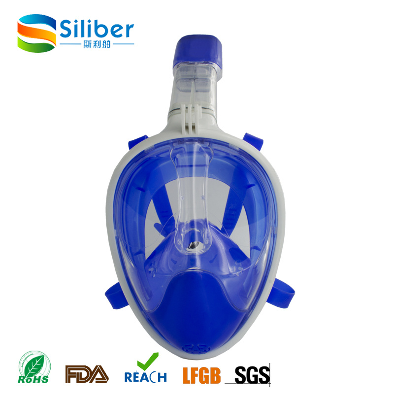 2017 Hot Sells 100% Silicon Diving Full Face Snorkel Mask