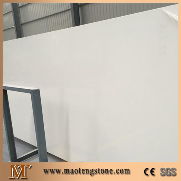 Factory Artificial Solid White Big Slab Quartz Stone Price