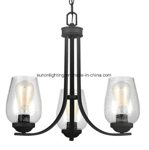 Two Tiers 9 Lights Chandelier with Bubble Glass
