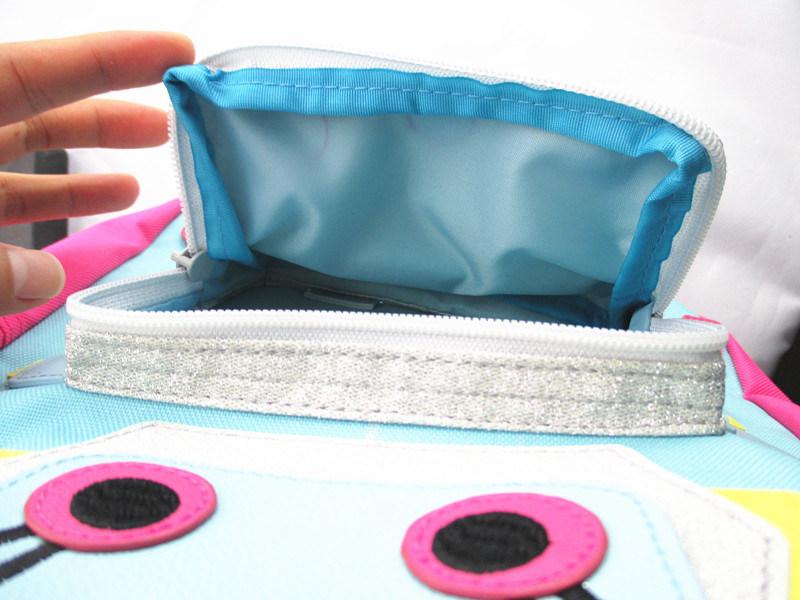 Girls Pink Robot Novelty Polyester Backpack