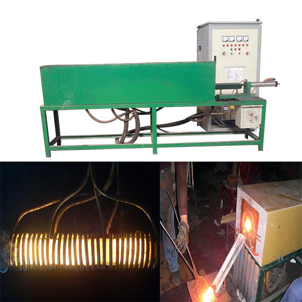 Superaudio Frequency 200kw Induction Forging Furnace with Three Auto Feeding System
