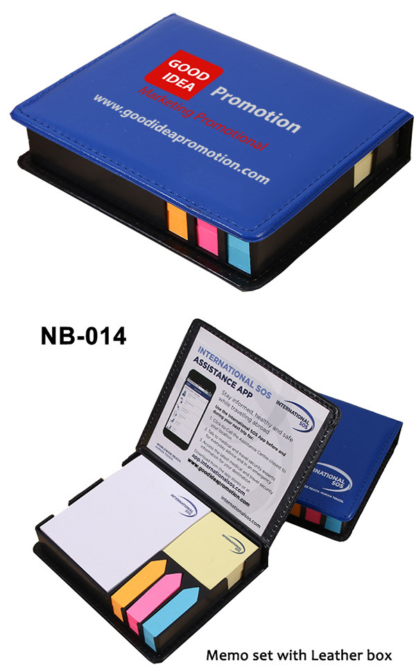 Colorful Sticky Paper Memo Holder in PU Box