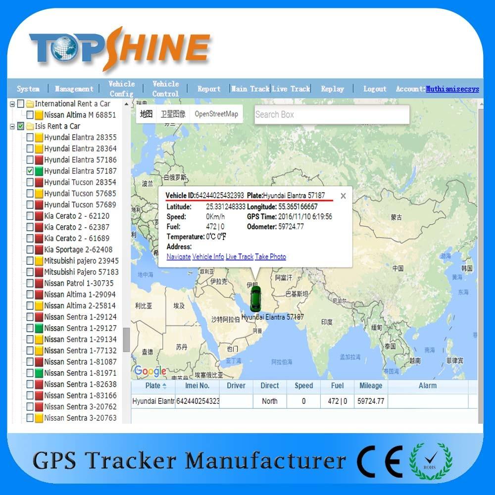 Topshine Online Web-Based GPS Tracking Software Platform (GPRS01) for Fleet Management