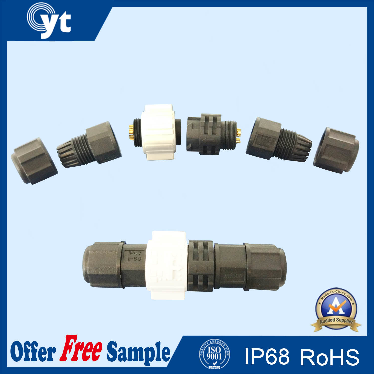 Cyt Circular Connector with Multi-Core From 2 to 8 Pins