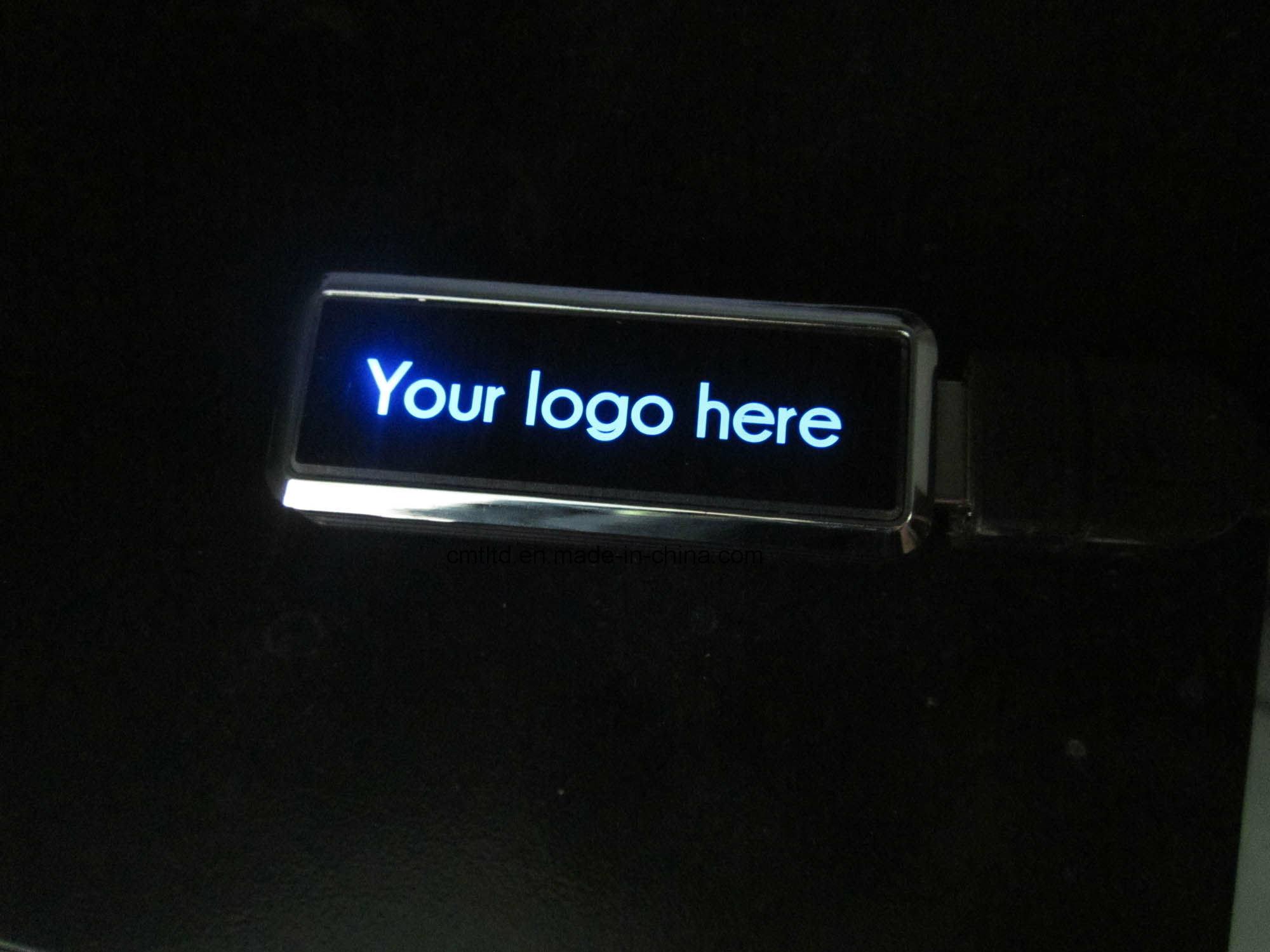 Four Shine Light Colors USB Flash Drives promotional Custom Logo USB Stick
