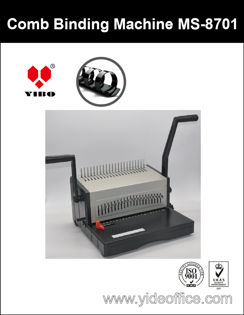 A4 Base Heavy Duty Aluminium Comb Binding Machine (MS8701)