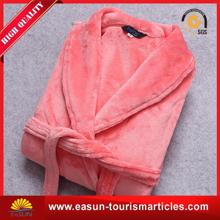 Unisex Long Sleeve Thick Warm Velour Bathrobe
