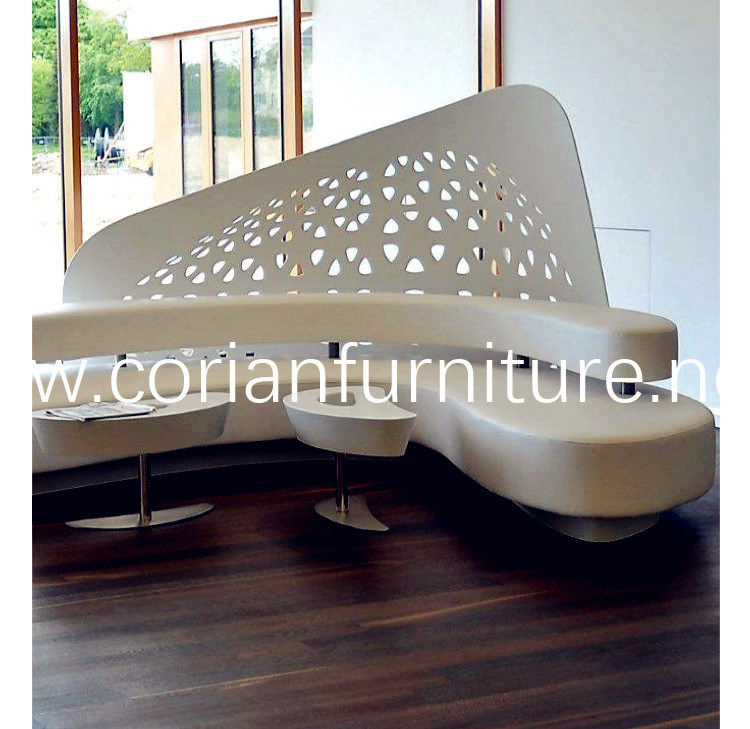 Acrylic Solid Surface Waiting Bench
