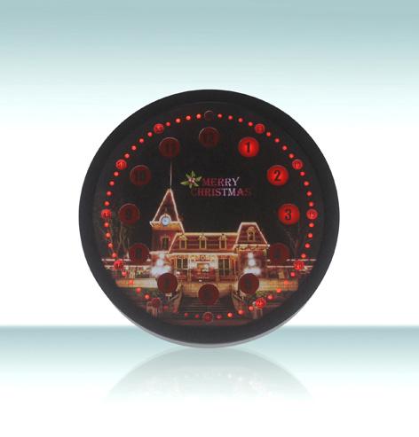 Novelty Christmas Light Emitting Digital Clock with LED Display Light