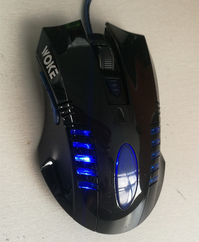 2400dpi High-End 6D LED Gaming Optical Wired Mouse Jo29