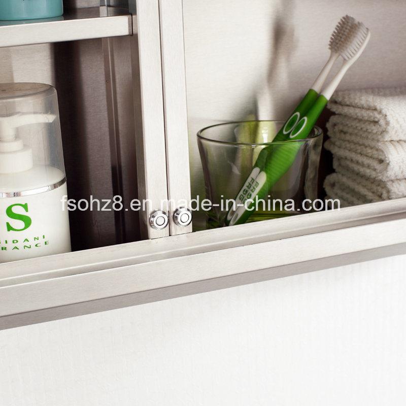 Modern Corner Stainless Steel furniture Bathroom Big Storage Cabinet (7068)