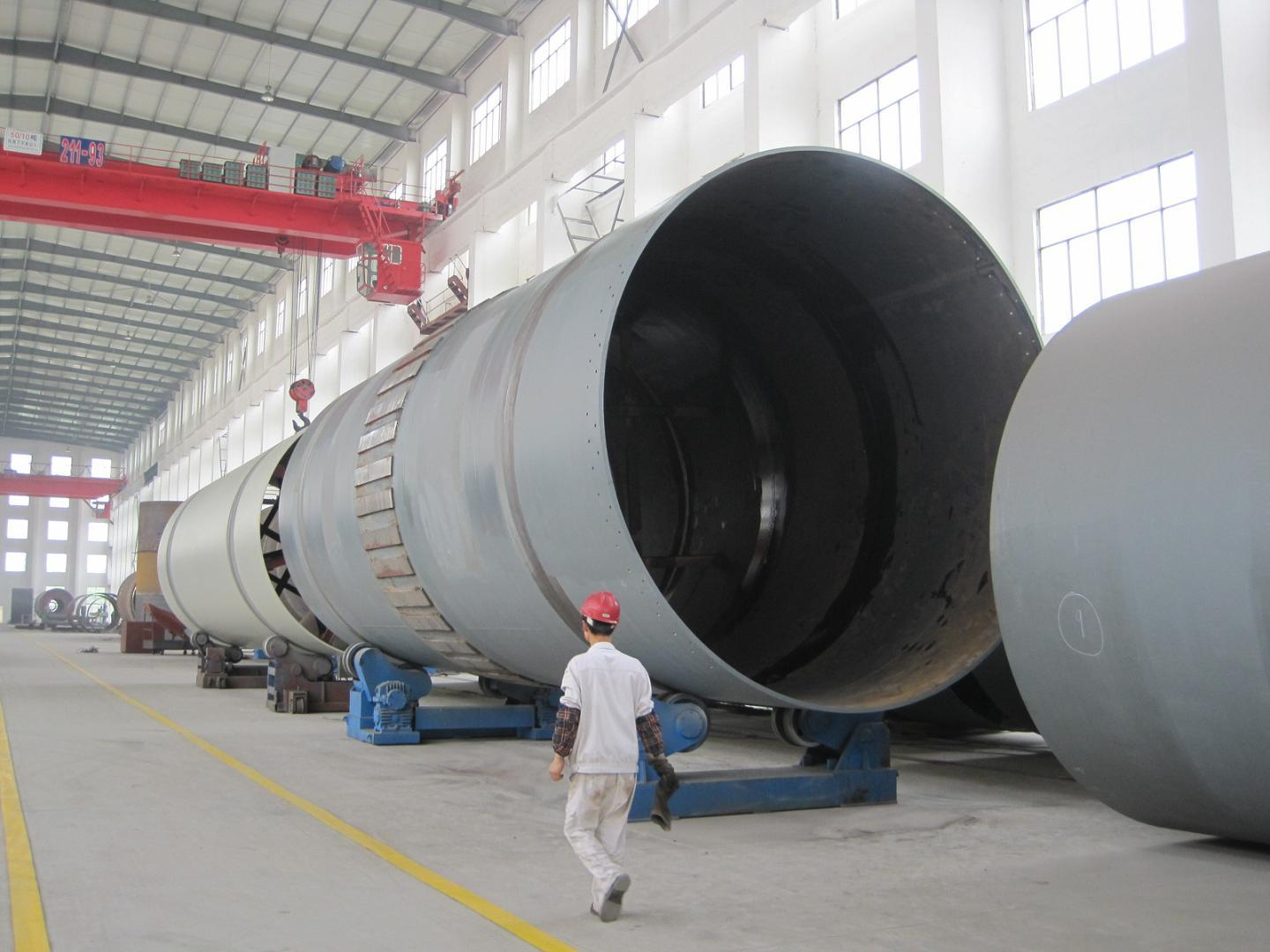 4.8*76m Rotary Kiln in Cement Production Line