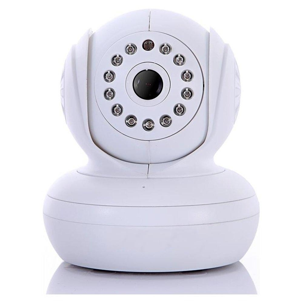 china white dual audio wireless network pantilt speed mic built in night visi. Black Bedroom Furniture Sets. Home Design Ideas