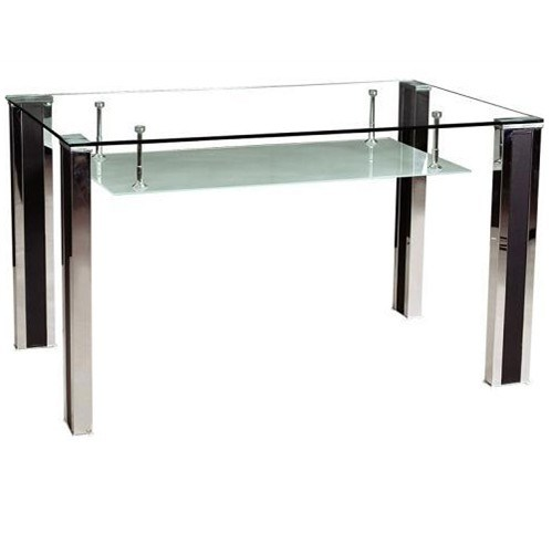 Modern tempered glass dining table dt003 china dining for Tempered glass dining table