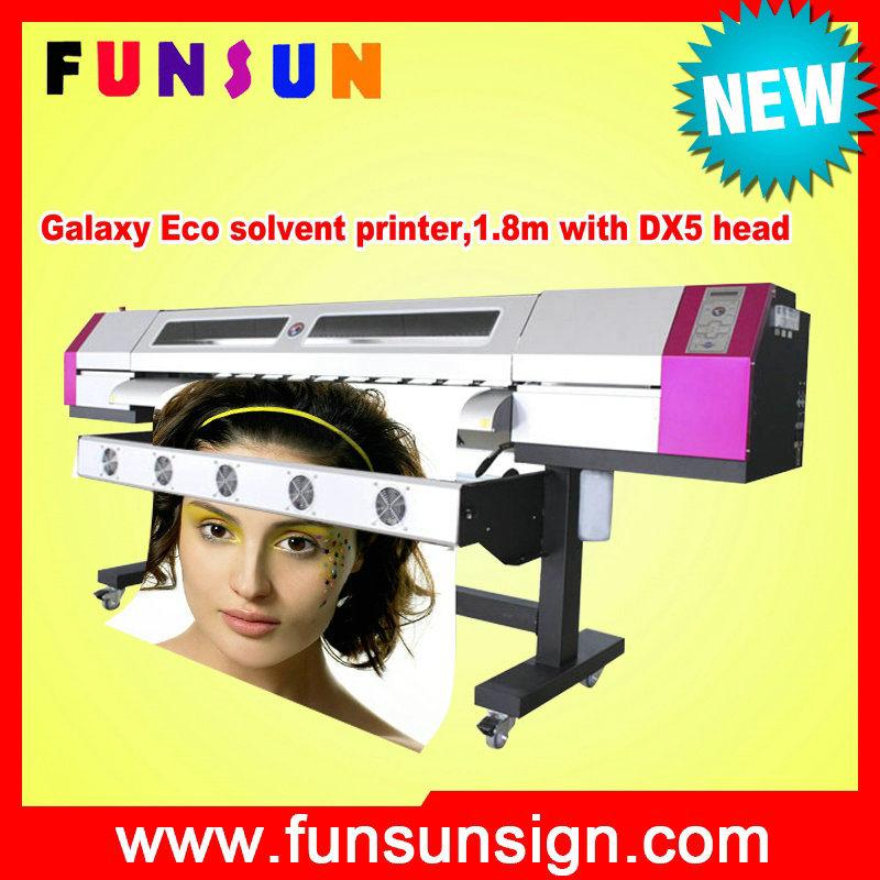 Galaxy Eco Solvent Printer Ud181LC Printer 1440dpi Resolution with Original Dx5 Printhead