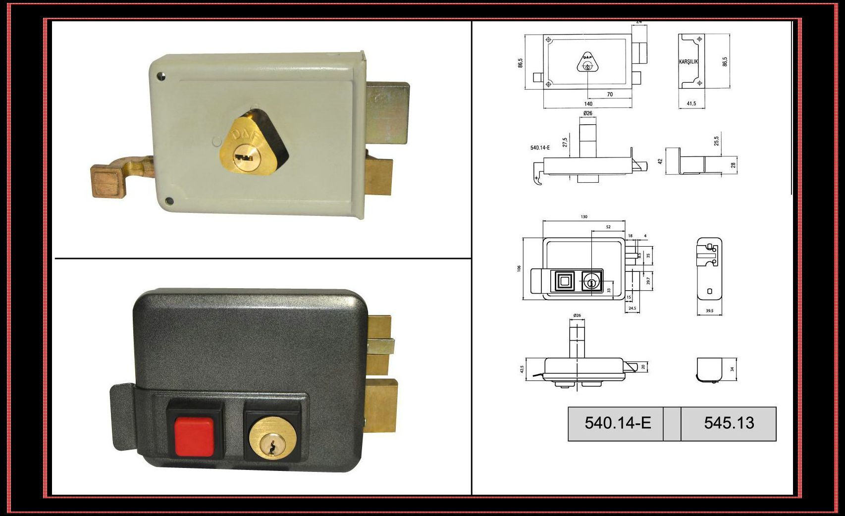 Amazon.com: Lock Jaw Security 1001 Door Security Device, Polished
