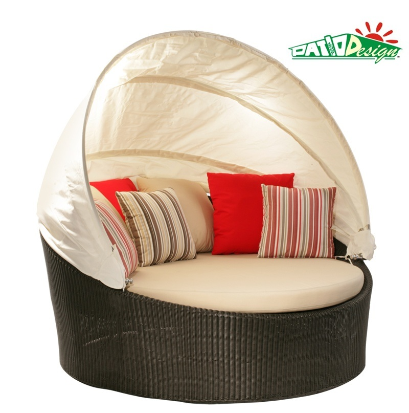 Garden Wicker Round Lounge Outdoor Rattan Furniture (P-RL)