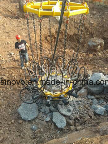 SPA5 concrete cutter round square 12 modules pile preaker