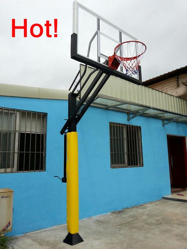 Adjustable Basketball Stand with Glass Basketball Backboard
