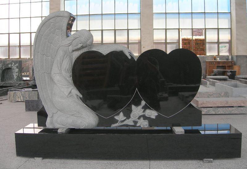 De dubbele grafsteen van het graniet van het hart de for Door het hart van china