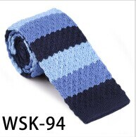 100% Polyester/Silk Knitted Tie (WSK-94)