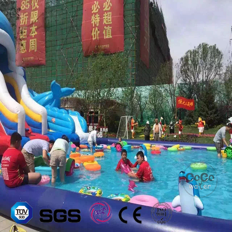 Inflatable Dolphin Cartoon PVC Pool for Outdoor Waterplay LG8100