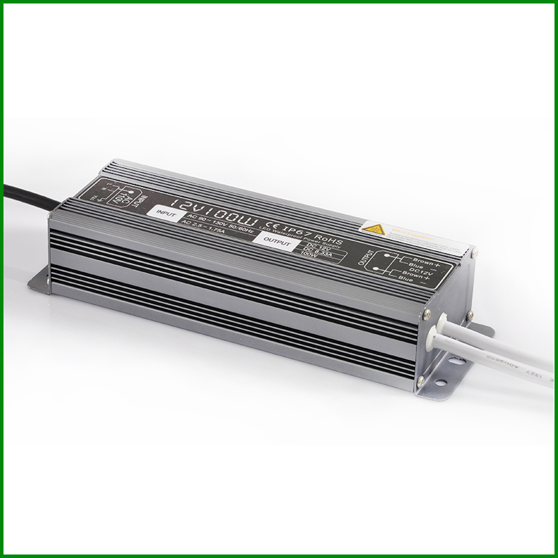 AC to DC 12V 20W-300W IP67 Waterproof LED Switching Power Supply with Ce RoHS