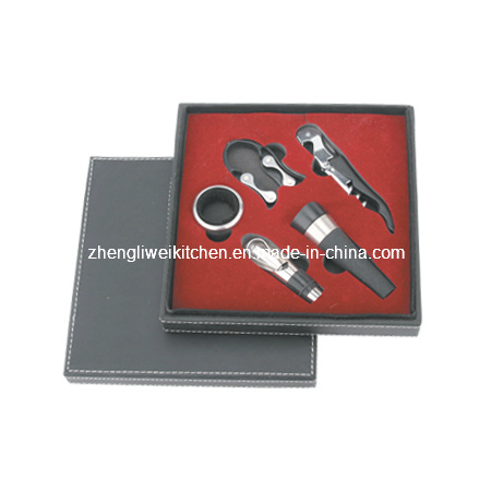 Wine Tool Set in Leather Box (608178)