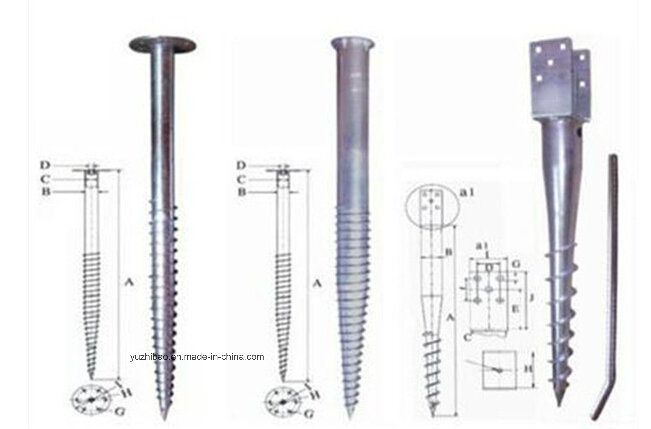 HDG Ground Anchor, Ground Screw for Solar Engrgy, Ground Screws