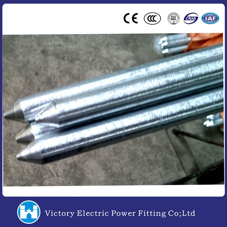 Pole Line Hardware Galvanized Earthing Rod Ground Rod
