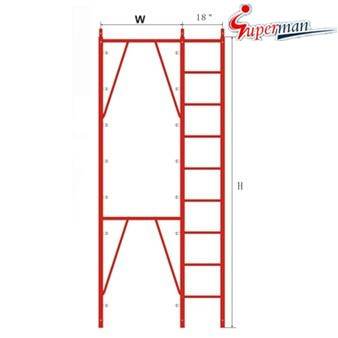 "Apartment Frame with 18"" Ladder-Snap on Lock"