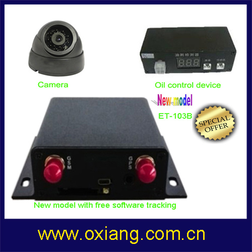 Vehicle GPS Tracking Device Support Fuel Collector and Camera