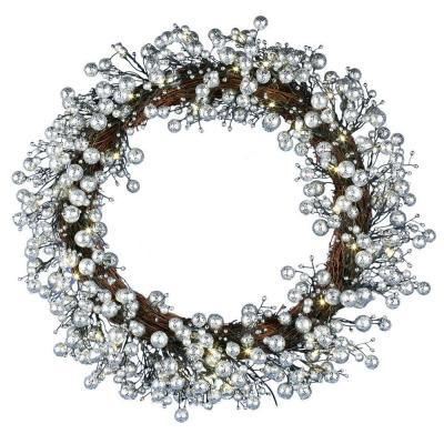 24in. Golden Starlite Creations Wreath with Batteris Operating 48 LEDs (MY255.258.00)