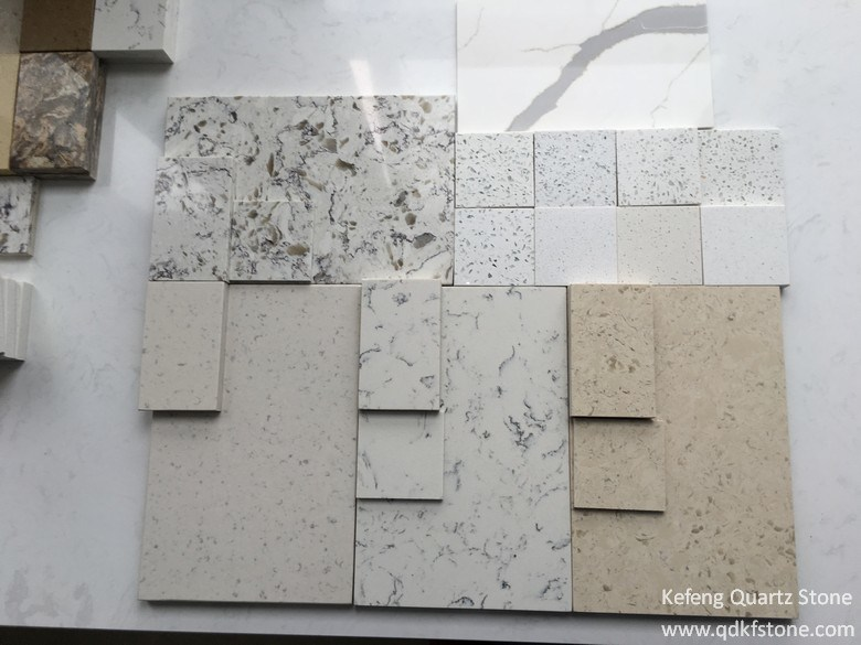 Hot Marble Color Carara White Engineered Quartz Stone for Apartment Solid Surface